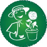 Gärtnerei Button